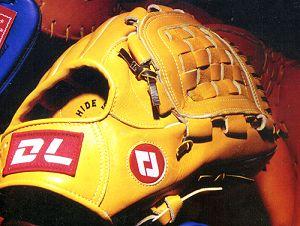 DL gloves on KHP baseball bat and softball bat factory